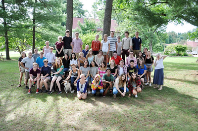 St. Andrew's-Sewanee School Class of 2017 and some advisors gathered at last year's Opening Weekend