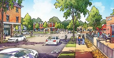 Artist rendering of downtown Sewanee