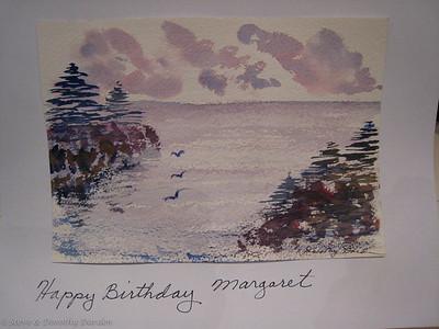 Birthday card for Margaret 2007