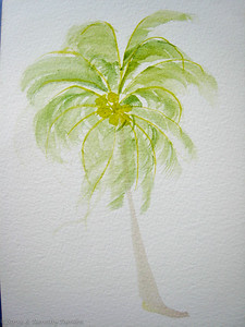 Painting of a Palm tree