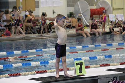 A Sewanee Tigershark during a meet.