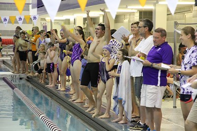 Sewanee Tigersharks cheering on teammates.