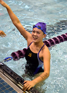 Zoe Craft of the Tigersharks swim team placed second in the breaststroke during the RACE League Championships