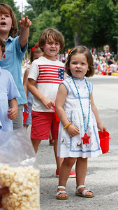 Children await the Fourth of July Parade. Photo by Michael Ostrowski