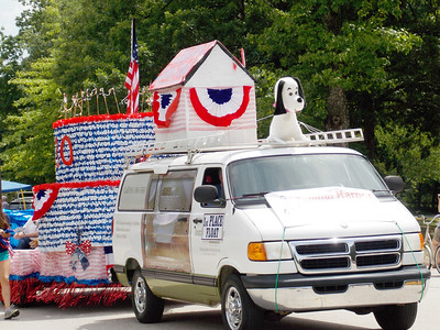 Animal Harbor had the first place float in the Fourth of July parade