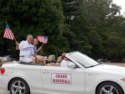 Grand Marshall Mike Mason with his granddaughter