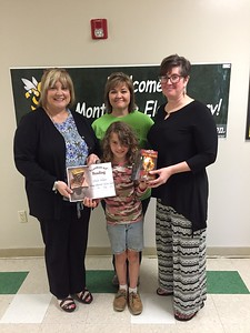 Monteagle Elementary School third-grader Stella Wilson is the recipient of the Sissy Stewart Memorial Literacy Award