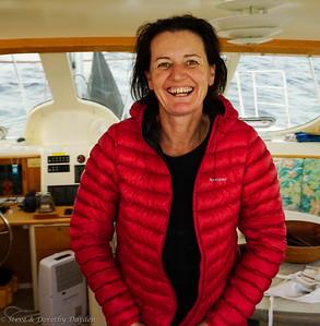 Vanessa is always happy at sea.