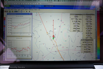TWD veering and TWS from 10 kts to 23 kts