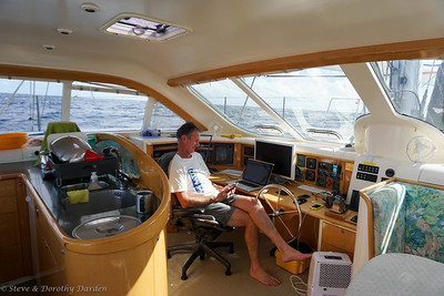 Wayne at the helm