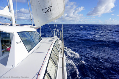 Blue skies and fair winds on day four
