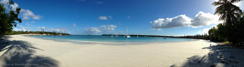 As we walked the Kuto Bay beach Friday morning we caught ADAGIO in this pano. http://w3w.co/depending.tigers.refurbished