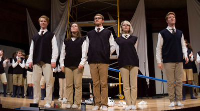 St. Andrew's-Sewanee senior class members, from left, Daniel McNair, Carolyn Graham, Cooper Nickels, Hadley Parsons and Issac Lee performed in their final fall production for the SAS Players