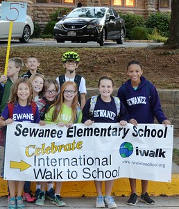 Sewanee Elementary participated in the International Walk to School event on Oct. 5