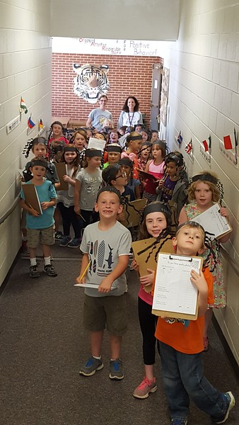 First graders from Rebecca Betancourt and Barbara King at Sewanee Elementary conducted a survey to determine if the teachers at their school suffered from arachnophobia