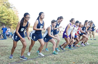 St. Andrew's-Sewanee runners prepare for the start of the Oct. 13 cross country meet at Grundy County High School