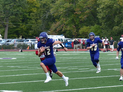 Freshman quarterback Dane Quinn runs in Sewanee's final touchdown of the game on Oct. 1 against Rhodes College. Photo by Lyn Hutchinson