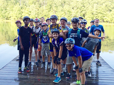 Members of the St. Andrew's-Sewanee School mountain biking team