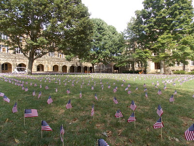 Flags were placed at the Quad on Patriot Day