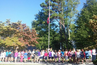 In recognition of Patriot Day, SES held a special flag raising ceremony on Monday, Sept. 12