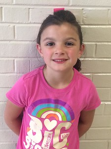 Avery Byers is a first grader in Kristy Sartain's class