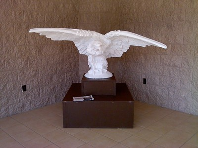 Plaster cast of the eagle on display at Monteagle City Hall