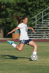 Sophia Hartman in action for the SAS girls' varsity soccer team
