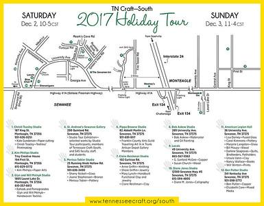 2017 Studio Tour map