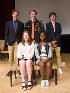 Coaches' Award: (Back Row, L-R) Aidan Smith, Wyatt Lindlau, John Grammer; (Front Row) Sarah Beth Hobby, Elsie Uwera