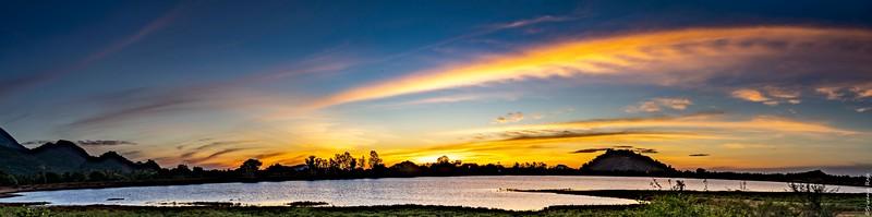 Sunrise over Rajapalayam Water source