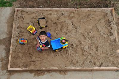 AJ's new sandbox