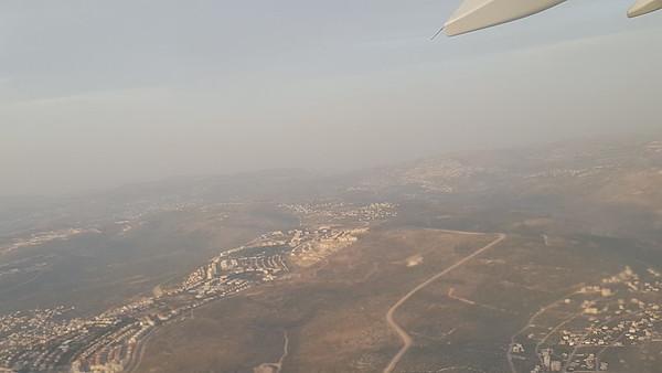 Flight over Israel