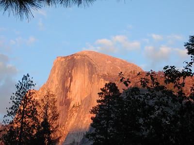 Half Dome Sunset