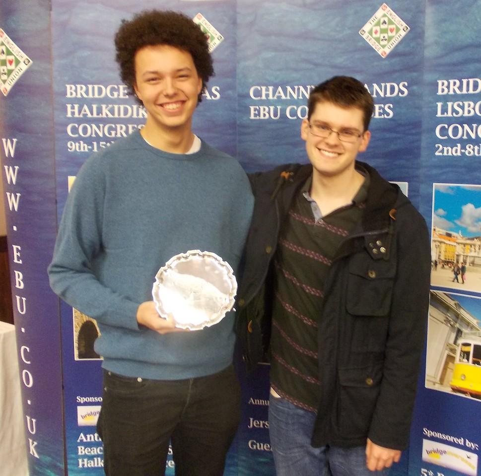 Year End Congress, London, 2016 - Open Pairs winners Daniel Winter & Ben Norton