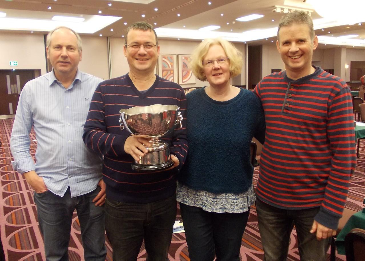 Year End Congress, London, 2016 - Swiss Teams winners - Jeremy Willans, Neil Rosen, Anne Rosen, Ian Draper