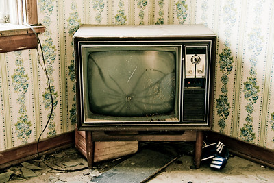 An old TV in the Main House Scott Prokop
