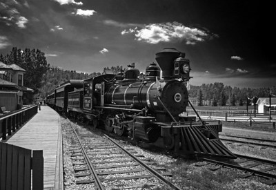 Winner of the Year-end Black & White/Monochrome category for the best Digital Image  All Aboard  by Ken Greenhorn