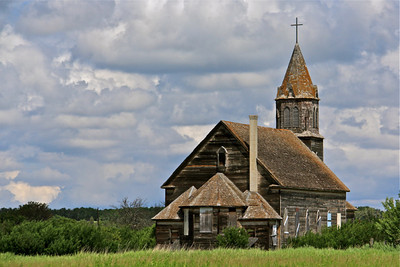 TR-Abandoned Church at Fish Creek-Hilda Noton