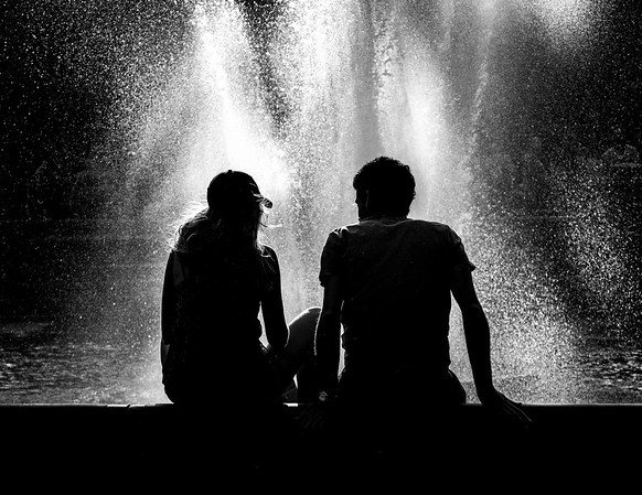 1Print-BW-At The Fountain-Tom Kroeker