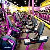 Shown are stationary bicycles and treadmills in the Planet Fitness location in Effingham. The new gym opened Wednesday. Dawn Schabbing photo