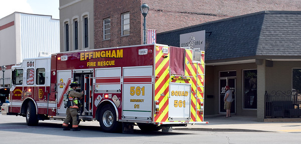 The Effingham Fire Department responded to a structure fire at Effing Brew Tuesday afternoon. Officials say a flash arc from a breaker box caused the initial blaze. Kaitlin Cordes photo