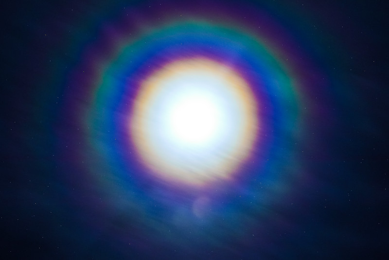 Iridescent Moon