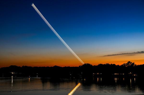Sunset Moonset Stack