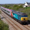 2012 was the last summer of loco haulage of Pendilinos along the North Wales coast, so whilst photographing the charters on 5th May we pulled in the outward and return working as well. The return working, the 1A55 Holyhead to London Euston is seen passing Llanfair-yn-newbwll, with the ever colourful, 57314 providing the traction.