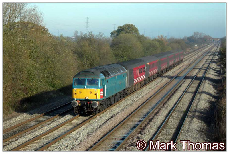 47853 passes Green Lane with 1V75 09.14 Crewe to Cardiff Central on 19th November 2005.