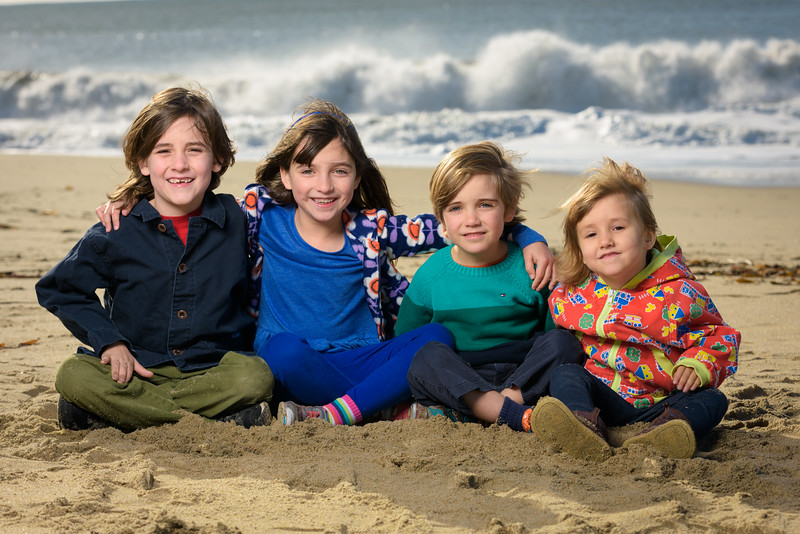 Family Portrait Photography on the Beach in Santa Cruz