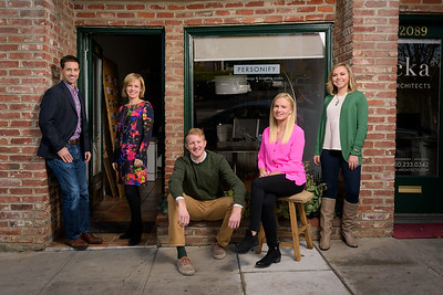 Lifestyle Group Portraits of Design Studio Staff in Menlo Park