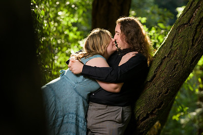 Engagement photography in the Forest in Aptos
