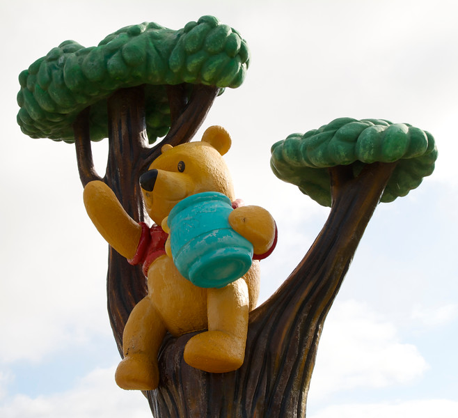 The Winnie-the-Pooh statue in White River, Ontario