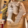 The Luxor Sphinx<br /> A trip to Las Vegas is a feast for the eyes. There is so much visual overload, it's hard to take it all in. Each casino has it own attractions and great things to enjoy, but the Luxor has a style all it's own. With the Egyptian motif and unique pyramid structure, it feels more like a museum than a casino. This is a large sphinx, just one of many realistic statues to be found inside the large, black pyramid.